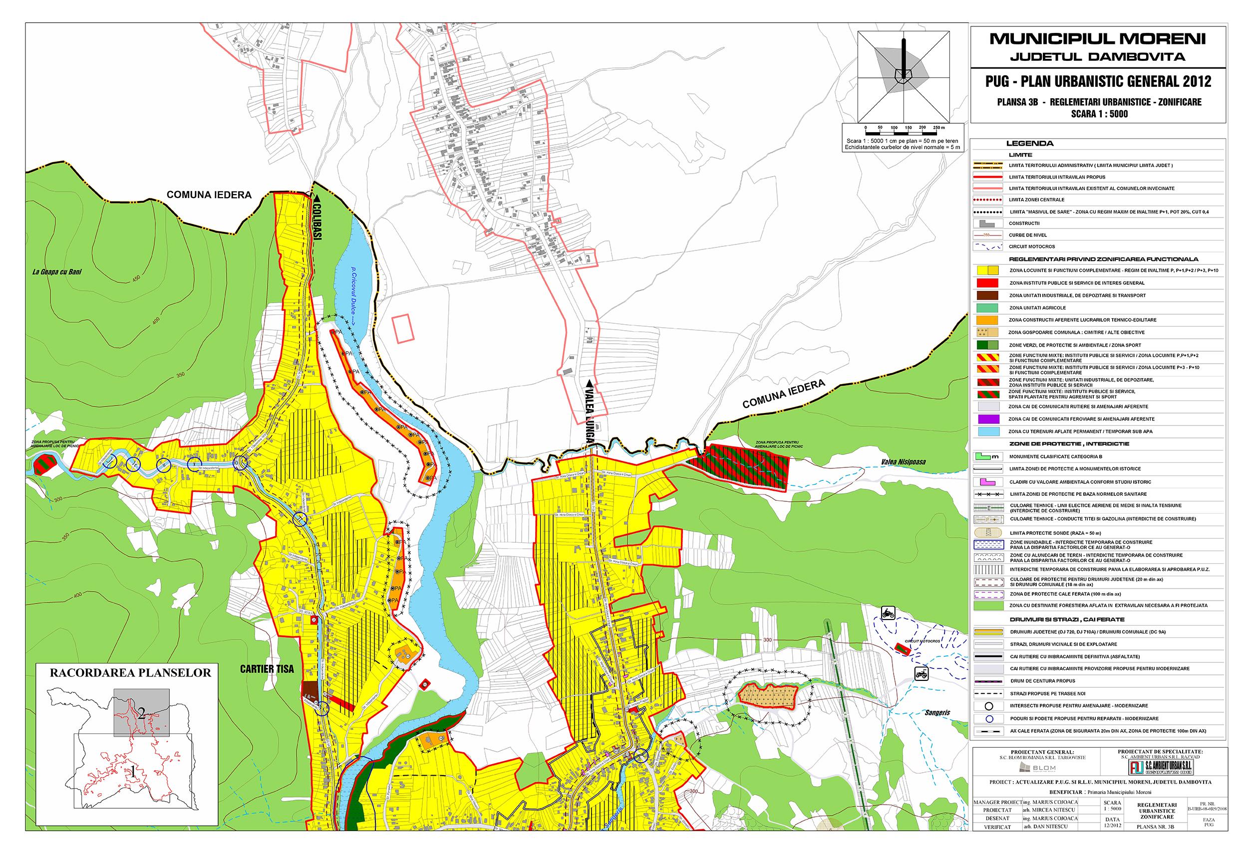 Harta Municipiului Moreni Primaria Municipiului Moreni